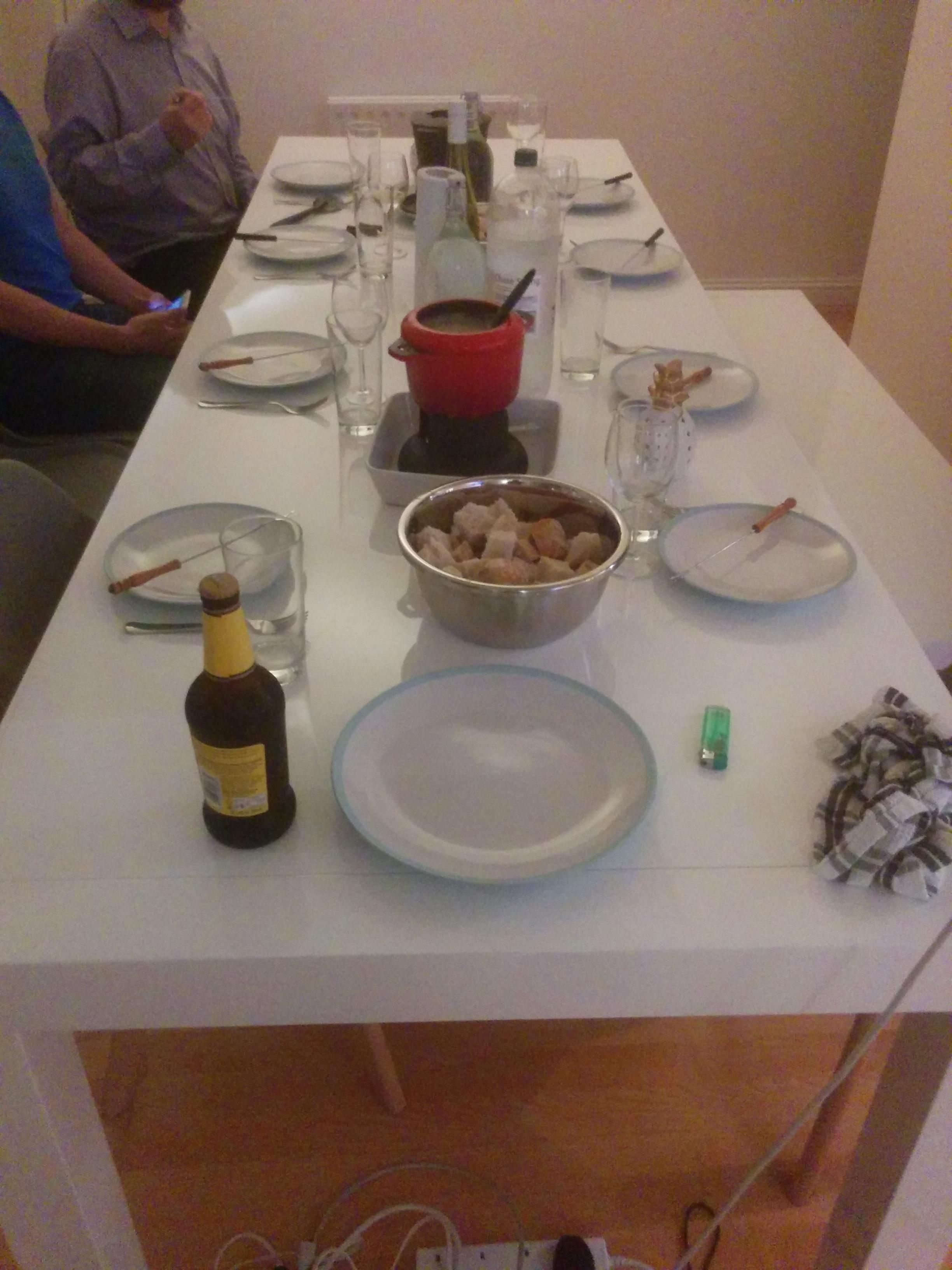 Our fondue dinner