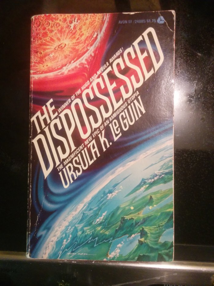 My weathered copy of The Dispossessed