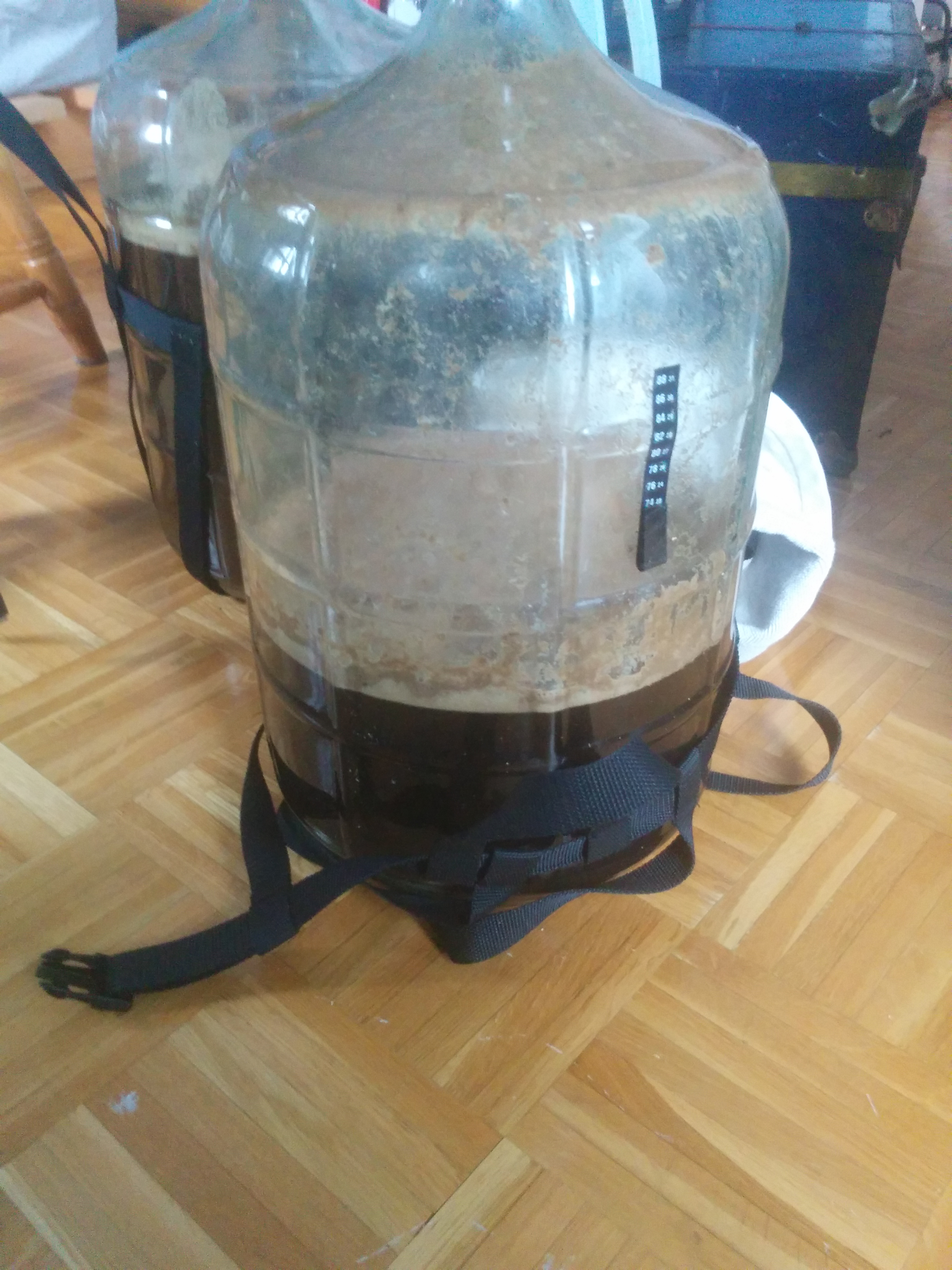 This carboy was full to the brim prior to the beerxplosion